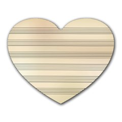 Notenblatt Paper Music Old Yellow Heart Mousepads by Nexatart