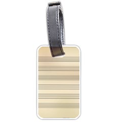Notenblatt Paper Music Old Yellow Luggage Tags (one Side)