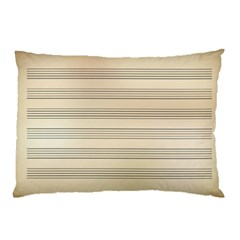 Notenblatt Paper Music Old Yellow Pillow Case (two Sides)