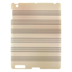 Notenblatt Paper Music Old Yellow Apple Ipad 3/4 Hardshell Case
