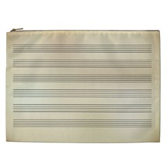 Notenblatt Paper Music Old Yellow Cosmetic Bag (xxl)  by Nexatart