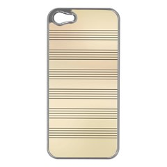 Notenblatt Paper Music Old Yellow Apple Iphone 5 Case (silver) by Nexatart