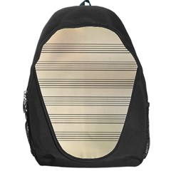 Notenblatt Paper Music Old Yellow Backpack Bag by Nexatart
