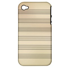 Notenblatt Paper Music Old Yellow Apple Iphone 4/4s Hardshell Case (pc+silicone)