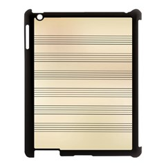 Notenblatt Paper Music Old Yellow Apple Ipad 3/4 Case (black) by Nexatart
