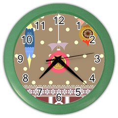 Art Background Background Vector Color Wall Clocks by Nexatart