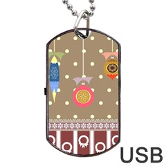 Art Background Background Vector Dog Tag Usb Flash (one Side)