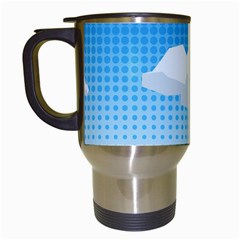 Grid Sky Course Texture Sun Travel Mugs (white)