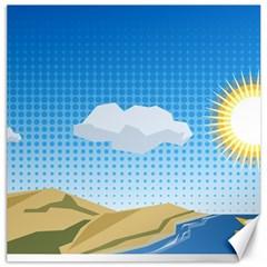 Grid Sky Course Texture Sun Canvas 16  X 16   by Nexatart
