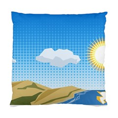 Grid Sky Course Texture Sun Standard Cushion Case (one Side) by Nexatart