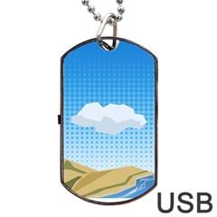 Grid Sky Course Texture Sun Dog Tag Usb Flash (one Side)