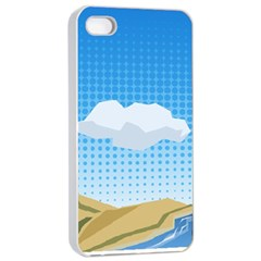 Grid Sky Course Texture Sun Apple Iphone 4/4s Seamless Case (white) by Nexatart