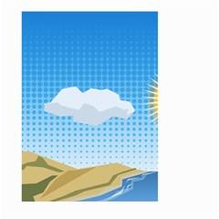 Grid Sky Course Texture Sun Small Garden Flag (two Sides)