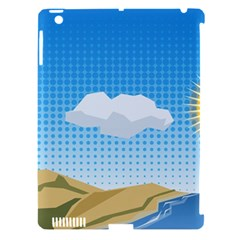 Grid Sky Course Texture Sun Apple Ipad 3/4 Hardshell Case (compatible With Smart Cover)