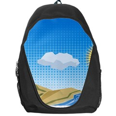 Grid Sky Course Texture Sun Backpack Bag by Nexatart