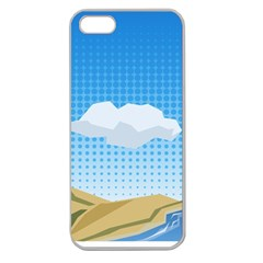 Grid Sky Course Texture Sun Apple Seamless Iphone 5 Case (clear)