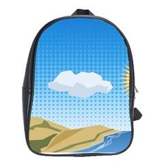 Grid Sky Course Texture Sun School Bags (xl)  by Nexatart