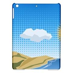 Grid Sky Course Texture Sun Ipad Air Hardshell Cases by Nexatart