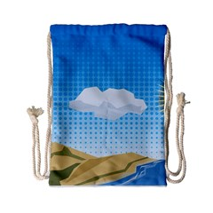 Grid Sky Course Texture Sun Drawstring Bag (small)