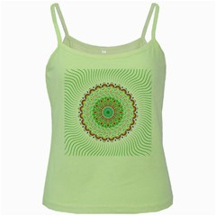 Flower Abstract Floral Green Spaghetti Tank