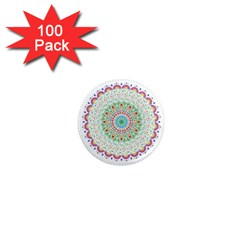 Flower Abstract Floral 1  Mini Magnets (100 Pack)
