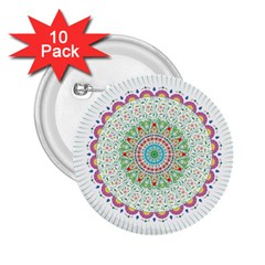 Flower Abstract Floral 2 25  Buttons (10 Pack)