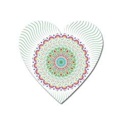 Flower Abstract Floral Heart Magnet by Nexatart