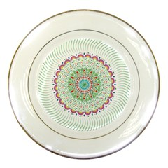Flower Abstract Floral Porcelain Plates by Nexatart