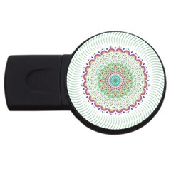 Flower Abstract Floral USB Flash Drive Round (4 GB)