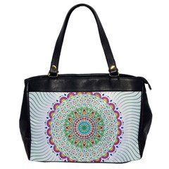 Flower Abstract Floral Office Handbags by Nexatart
