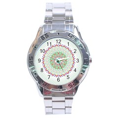 Flower Abstract Floral Stainless Steel Analogue Watch