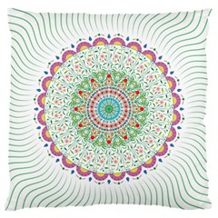 Flower Abstract Floral Large Cushion Case (one Side) by Nexatart