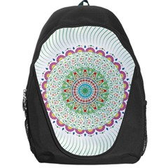 Flower Abstract Floral Backpack Bag
