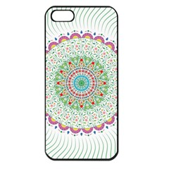 Flower Abstract Floral Apple Iphone 5 Seamless Case (black)