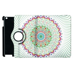 Flower Abstract Floral Apple Ipad 3/4 Flip 360 Case by Nexatart