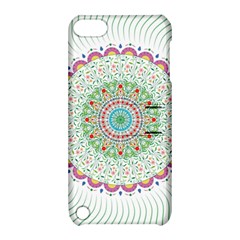 Flower Abstract Floral Apple Ipod Touch 5 Hardshell Case With Stand