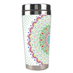 Flower Abstract Floral Stainless Steel Travel Tumblers by Nexatart