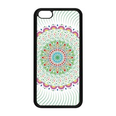 Flower Abstract Floral Apple Iphone 5c Seamless Case (black) by Nexatart