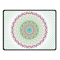 Flower Abstract Floral Double Sided Fleece Blanket (small)  by Nexatart