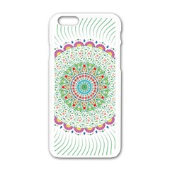 Flower Abstract Floral Apple Iphone 6/6s White Enamel Case