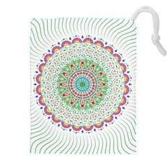 Flower Abstract Floral Drawstring Pouches (xxl) by Nexatart