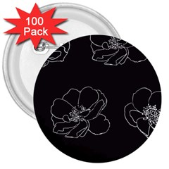 Rose Wild Seamless Pattern Flower 3  Buttons (100 Pack)  by Nexatart