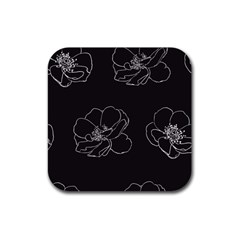 Rose Wild Seamless Pattern Flower Rubber Square Coaster (4 Pack)  by Nexatart