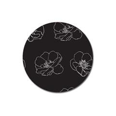 Rose Wild Seamless Pattern Flower Magnet 3  (round)
