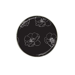 Rose Wild Seamless Pattern Flower Hat Clip Ball Marker (10 Pack)