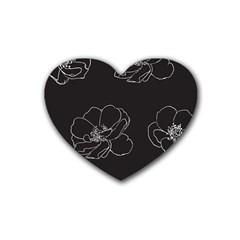 Rose Wild Seamless Pattern Flower Heart Coaster (4 Pack)