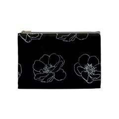 Rose Wild Seamless Pattern Flower Cosmetic Bag (medium)