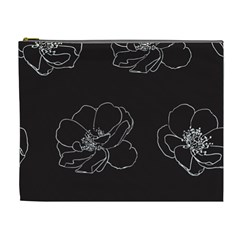 Rose Wild Seamless Pattern Flower Cosmetic Bag (xl)