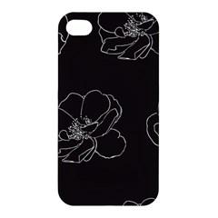 Rose Wild Seamless Pattern Flower Apple Iphone 4/4s Hardshell Case