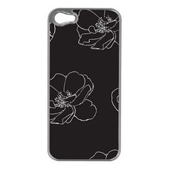 Rose Wild Seamless Pattern Flower Apple Iphone 5 Case (silver)
